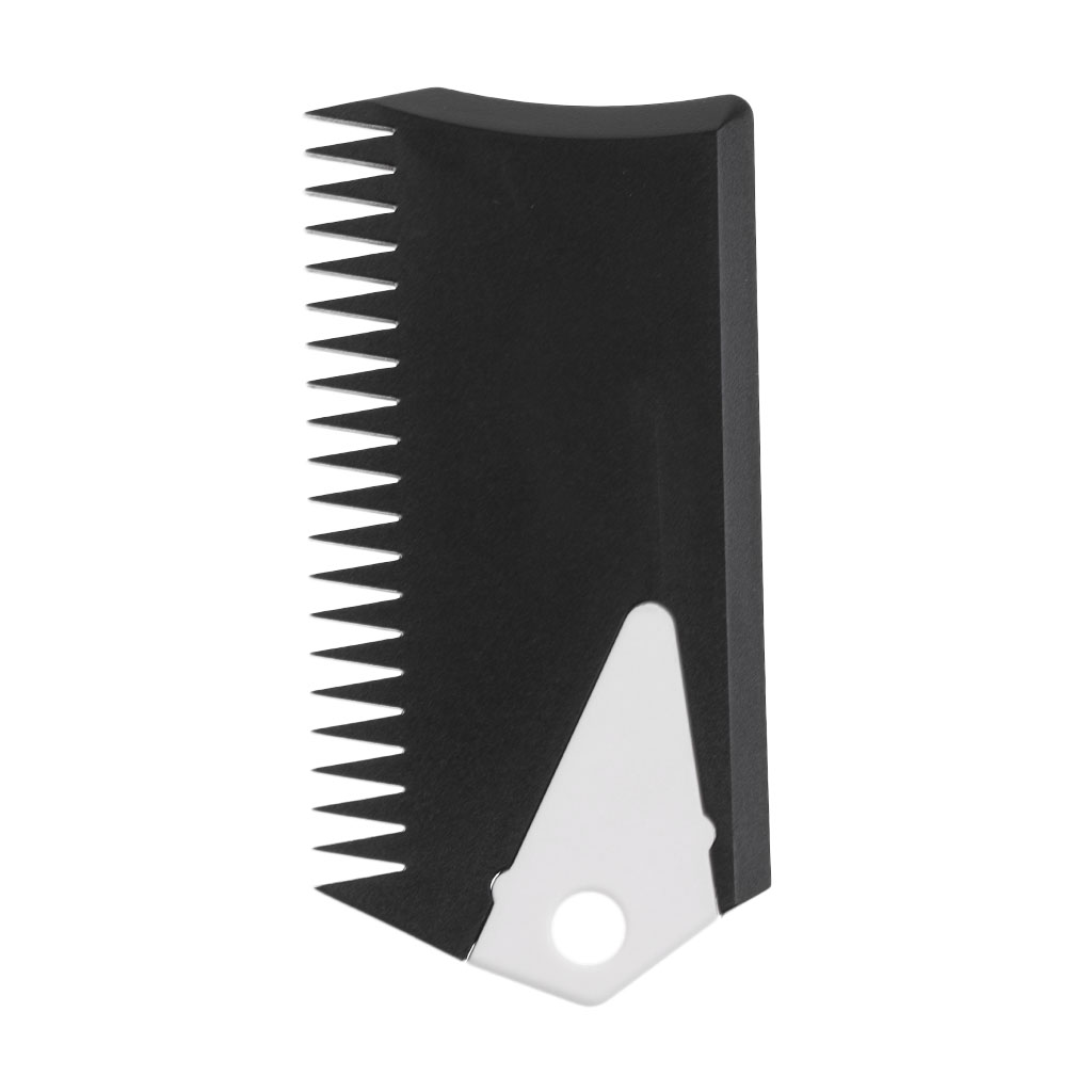 MagiDeal Plastic Surfboard Wax Comb Surf Wax Comb Cleaner Remove Tool With Fin Key Surfing Maintenance Accessory Black