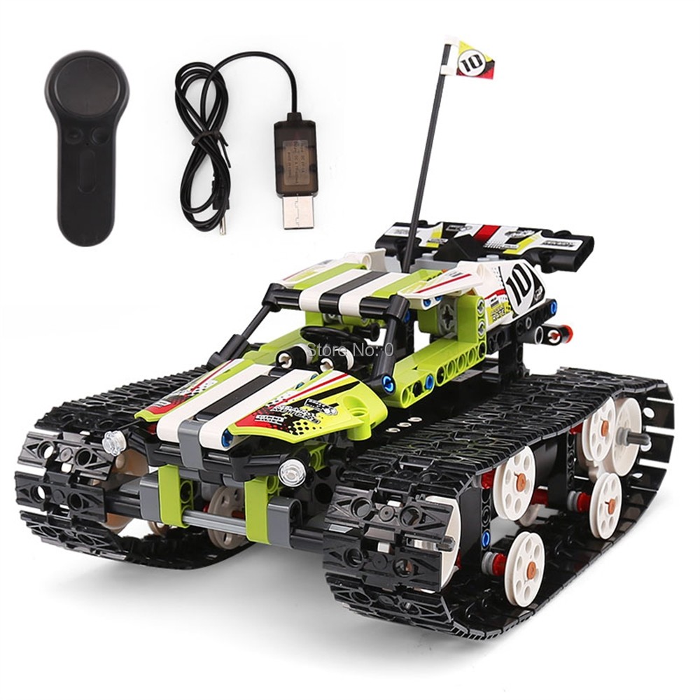 13023 410pcs technic remote control car rc caterpillar vehicles usb  42065 building block Bricks Toy-in Blocks from Toys & Hobbies on AliExpress - 11.11_Double 11_Singles' Day 1