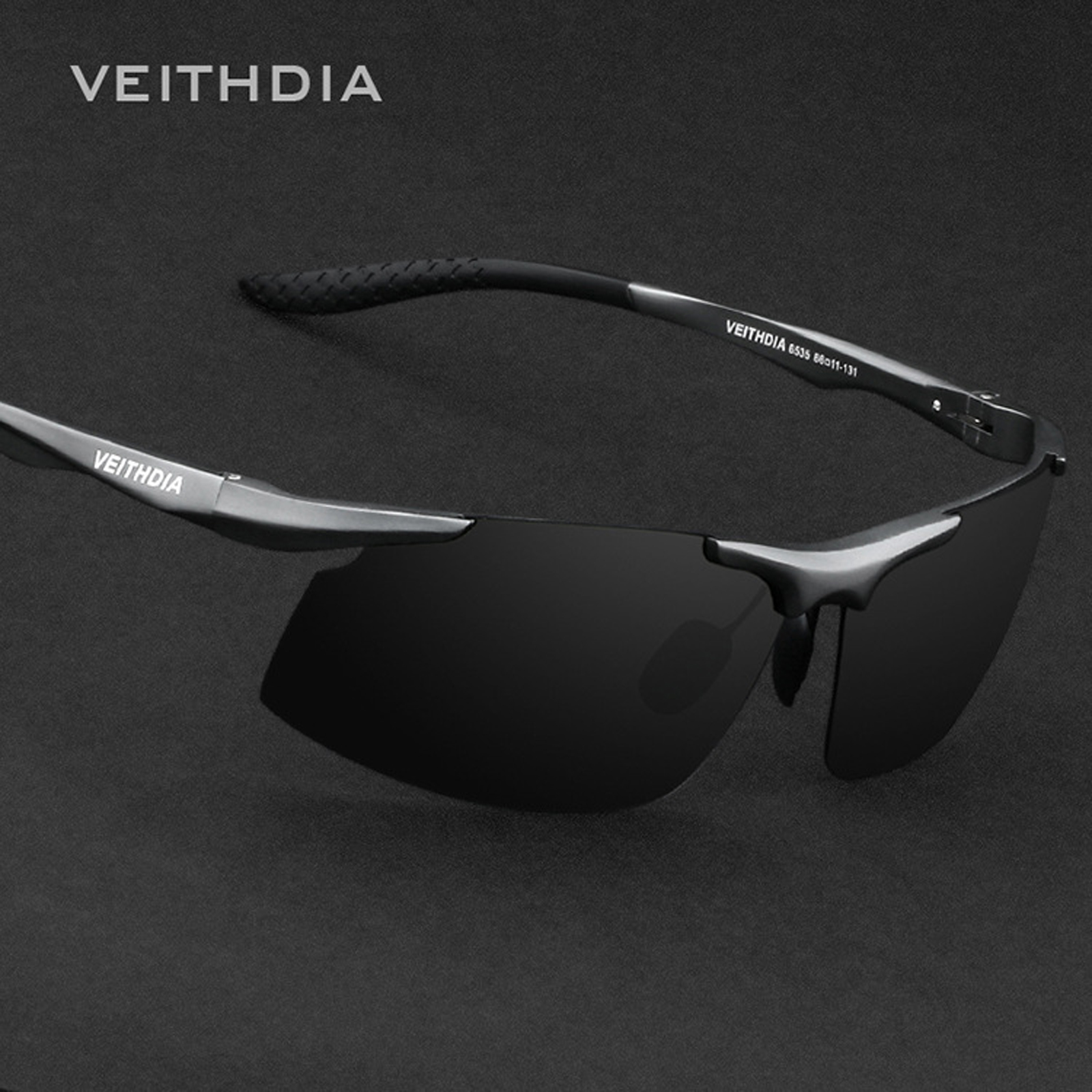 V6535 VEITHDIA Brand Aluminum Polarized Sunglasses Men Sports Sun Glasses Driving Mirror Eyewear Accessories For Men