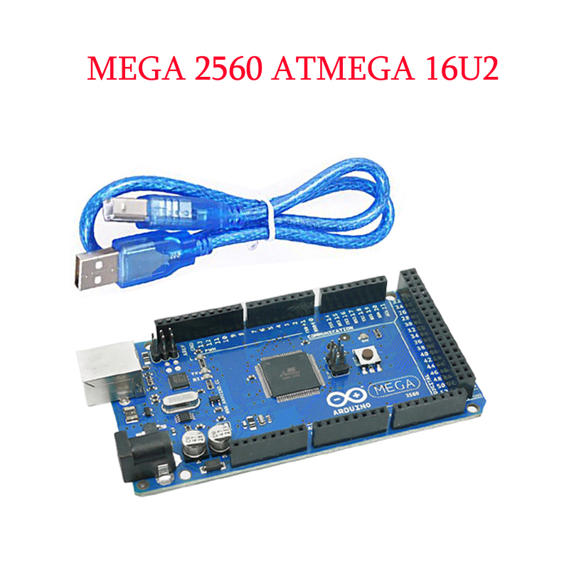 Mega 2560 R3 16AU Board+ USB Cable compatible for Arduino MEGA2560 Free Shipping