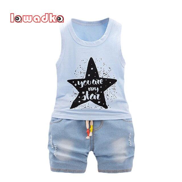 55e1bd05550513 Lawadka Baby Jungen Kleidung Set Kinder Weste + Kurze Hosen Set Kids Sterne  Kleidung Casual Anzüge
