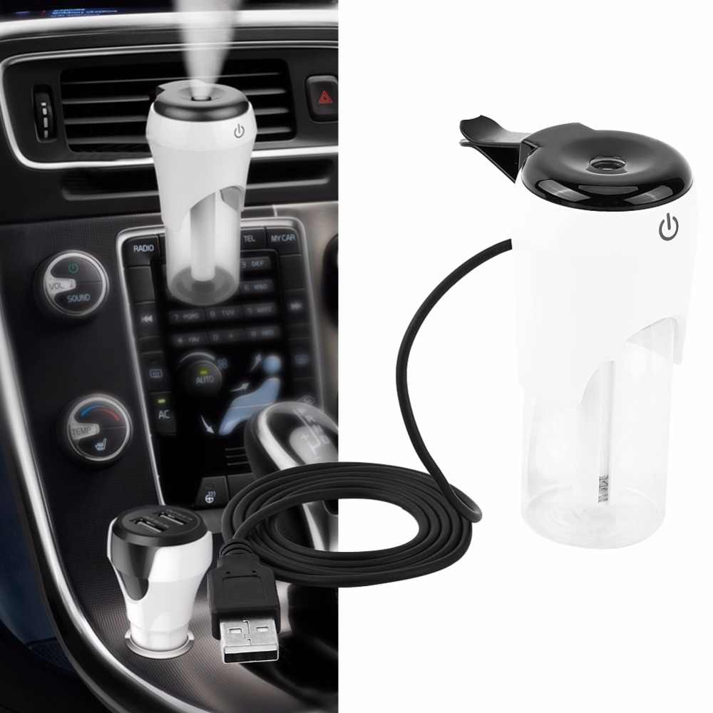 Car Humidifier Automobile Air Purifier Aroma Diffuser Mist Maker Fogger Essential Oil Diffuser Aromatherapy USB Charger