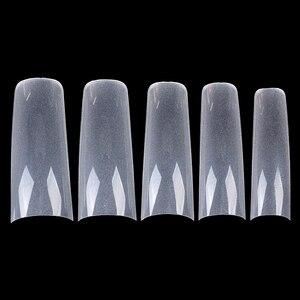 Image 5 - 504PCS/Fall 0,1mm Super Dünne Klar Französisch Acryl Nagel Tipps 10 Größen Halbe Abdeckung Falsche Fingernagel Kunst