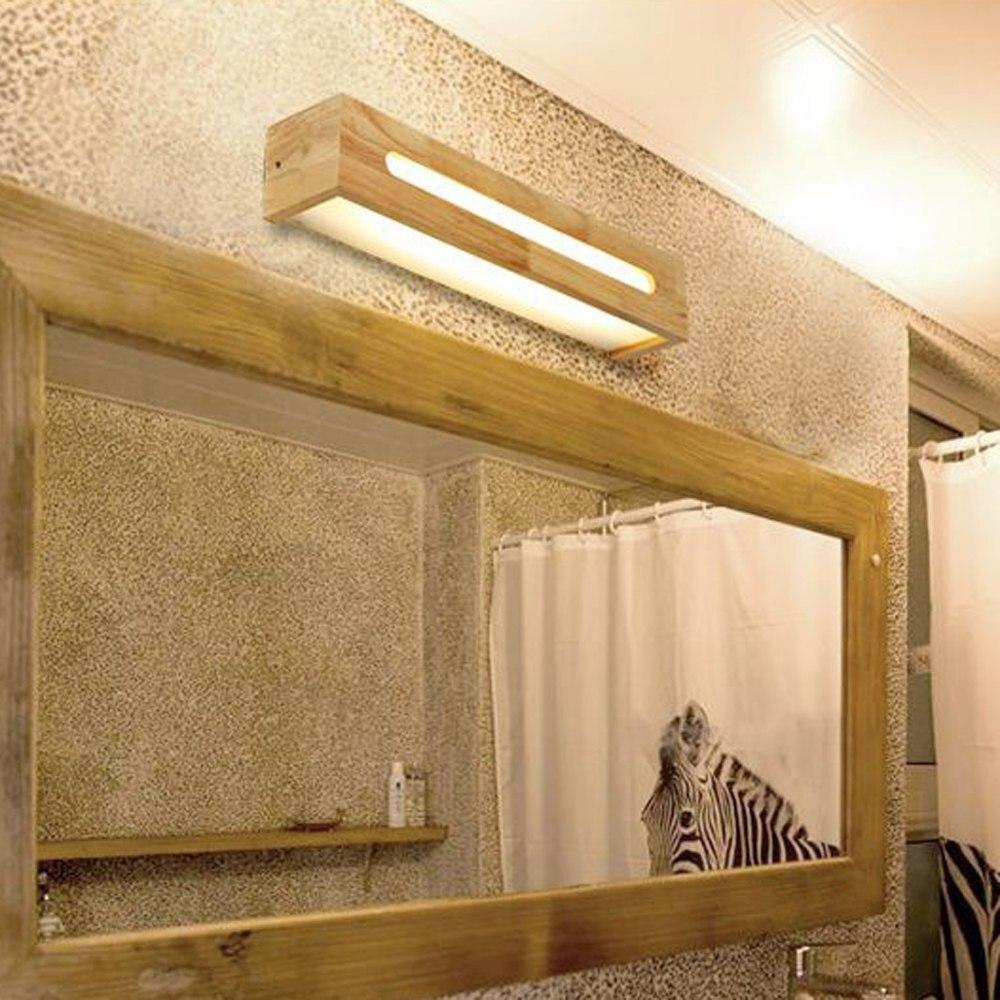 FÜHRTE Holz Badezimmer Wandleuchten Spiegel Vor Schlafzimmer ...