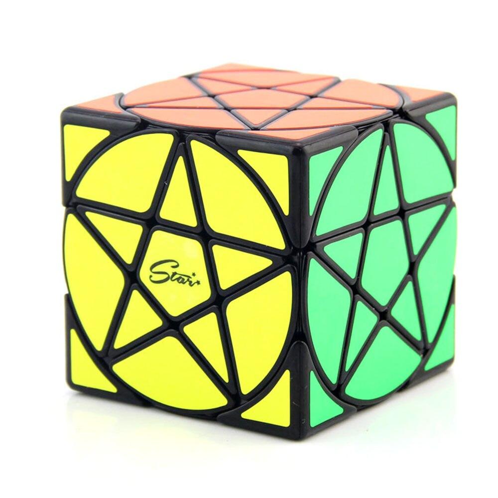 Qi Yi Mo Fang Ge Beautiful Pentacle Magic Cubes Puzzle Speed Revenge Cube Educational Toys Gifts for Kids Children mo yue guo guan yue xiao 3 3 3 black magic cubes puzzle speed rubiks cube educational toys gifts for kids children