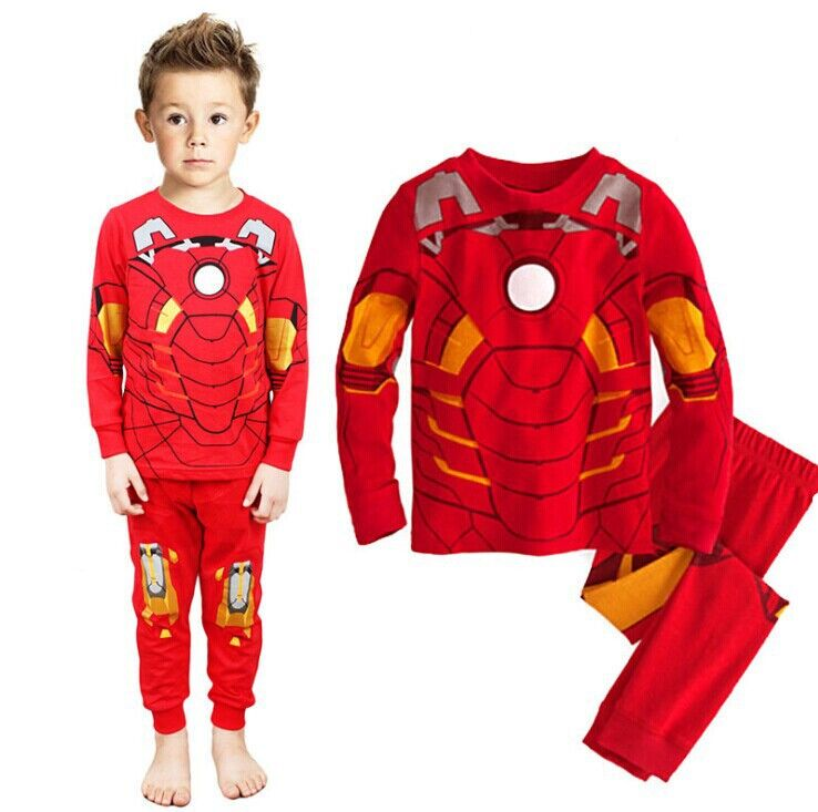 2017 New Kids sets for boys Sleepwear Cotton Pyjamas Babys ...