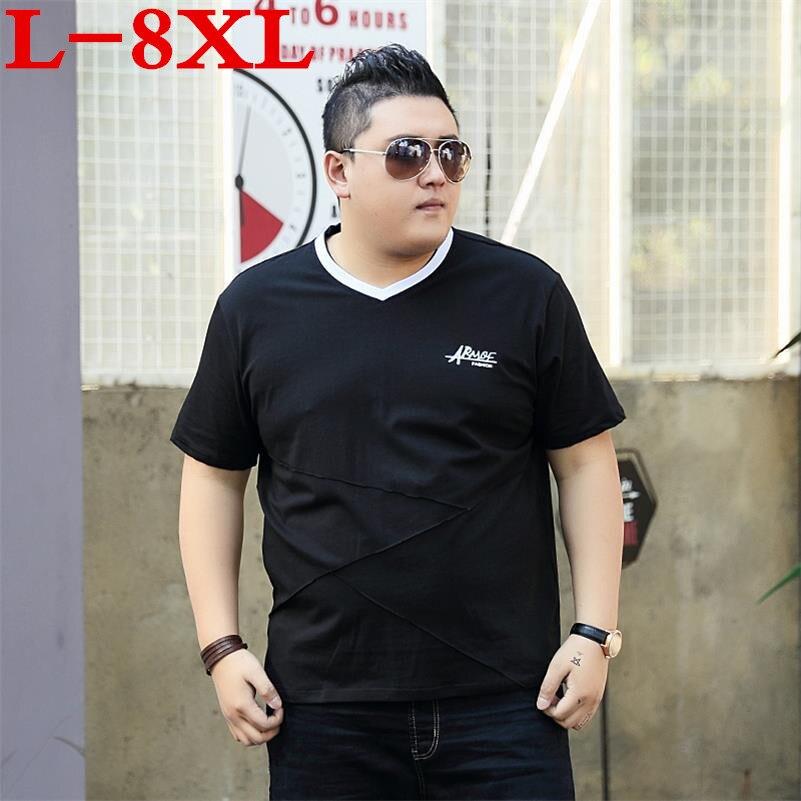 large size big size 10XL 9XL 8XL 6XL 5XL 4XL 2018 Summer New T Shirts Men Cotton Vintage Fashion Casual Tops loose Fit Plus Size
