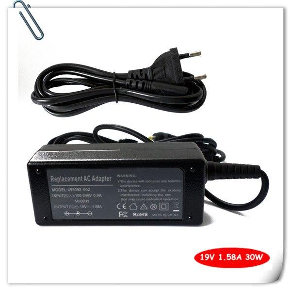 0e304f921c70 Adaptador de CA para HP Mini 210-1079 210-1091 210-1097 210-1098 210-1032  19.5 V 1.58A 30 W batería del ordenador portátil cargador de alimentación
