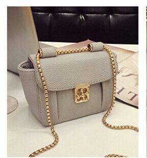 2017 fashion lockbutton chain mini <font><b>bag</b></font> shoulder messenger <font><b>bag</b></font> <font><b>women&#8217;s</b></font> small vintage handbag black/gray/red color