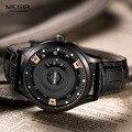 Megir мужская Лучший Бренд Класса Люкс Кварцевые Часы Мужчины Спорт Кварцевые Часы Кожаный Ремешок Военный Мужской Часы Relojes Hombre подарок 2017