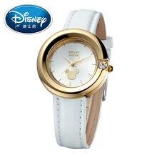 Disney Kids Watch Children Watch Fashion Simple Wristwatches women watch Mickey Mouse Gift Leather clock