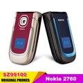 2760 Оригинальный Разблокирована Мобильного Телефона Nokia 2760 Bluetooth MP3 Видео FM Java поддержка нескольких языков Бесплатная Доставка Восстановленное