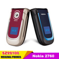 2760 Original Unlocked Mobile Phone Nokia 2760 Bluetooth MP3 Video  FM  Java support multi language Free Shipping Refurbished
