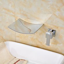 Chrome Single Handle Vessel Sink Faucet Brass Bathroom Basin Mixer Tap Wall Mounted