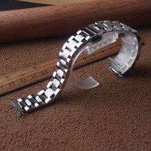 Металлический браслет для часов из нержавеющей стали 12 мм, 14 мм, 15 мм, 16 мм, 17 мм, 18 мм, 19 мм, 20 мм, 21 мм, 22 мм, серебристый изогнутый ремешок для часов