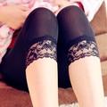 Mujeres Elástica Leggings de Encaje de Verano de tres cuartos Pantalones ajustados jeggings tamaño grande Recortada Pantalones Cortos