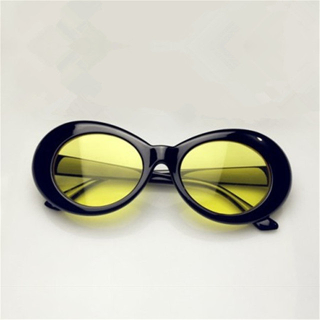 UVLAIK NIRVANA Kurt Cobain Sunglasses Men Women Clout Goggles Sunglasses Retro Oval Sun Glasses UV400 Design Women's Glasses 4