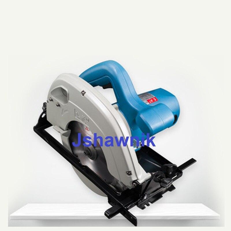 1100 W scie circulaire électrique industrielle scie à main planche à bois en aluminium plaque de coupe en plastique