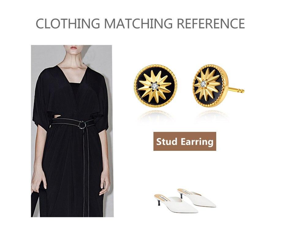 HTB1s4ETemSD3KVjSZFKq6z10VXaD 18K Gold Plated 925 Sterling Silver Star Stud Earrings for Women Black Agate  Gemstones Silver 925 Korean Studs Earings 2019