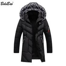 Bolubao marca de moda homens wram parka casaco casual inverno alta qualidade com capuz casacos casuais parka