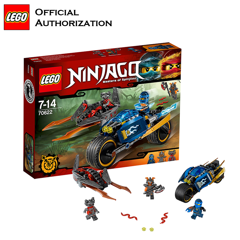Ninja Aller Lego blocs de construction Maîtres de Spinjitzu Attaque Moto Lego Jouets Drôle Rôle Jouer Bloc Bâtiment Blocos de constru