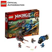 Ninja Przejść masters of Spinjitzu Klocki Lego Atak Motocykl Lego Zabawki Śmieszne Role Play Blok Budynek Blocos de constru