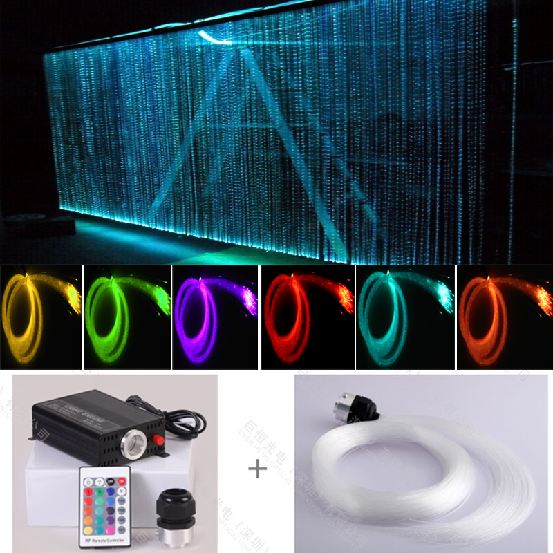 home decoration RGB led twinkling stars led fiber optic waterfall curtain light
