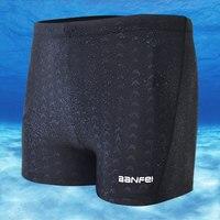 Waterdichte Shark Skin Mannen Shorts Hoge Taille Boxer Slips Zwembroek Solid Badmode Mannelijke Stoorzenders Board Broek Swim Concurrerende Surfen