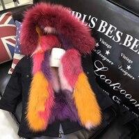 Модное зимнее пальто для девочек Дети натуральный мех съемный вкладыш куртки для мальчиков и девочек пальто с мехом лисы теплые парки для м