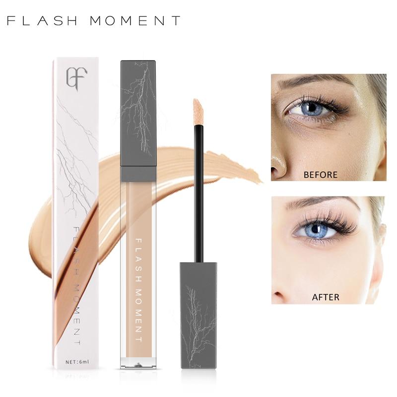 FlashMoment Liquid Concealer Cream Perfect Cover Pores Dark Circles Oil-control Face Contour Makeup Primer Foundation Concealer