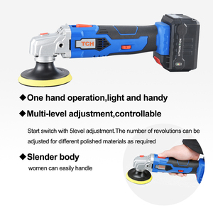 Image 3 - Waxing Machine with 16V Lithium Battery Portable Cordless Car Polisher 5 level Adjustable Speed Polishing Machine M10 Thread