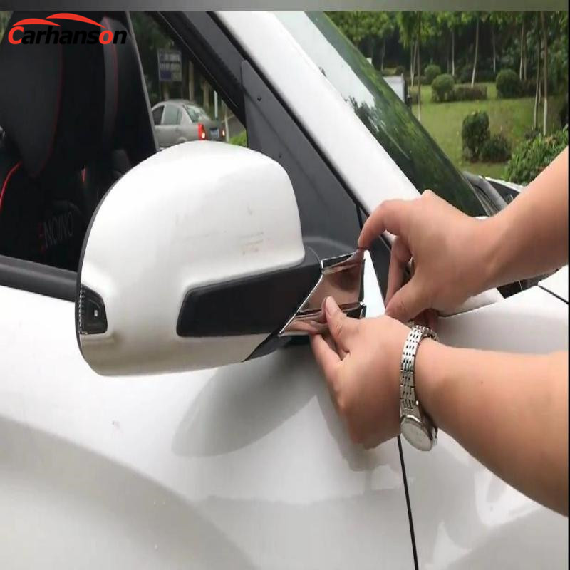 Car Accessories For Hyundai Kona 2018 2019 Abs Side Door Rearview Mirror Trim Cover Protection Chromium Styling Sticker Stickers