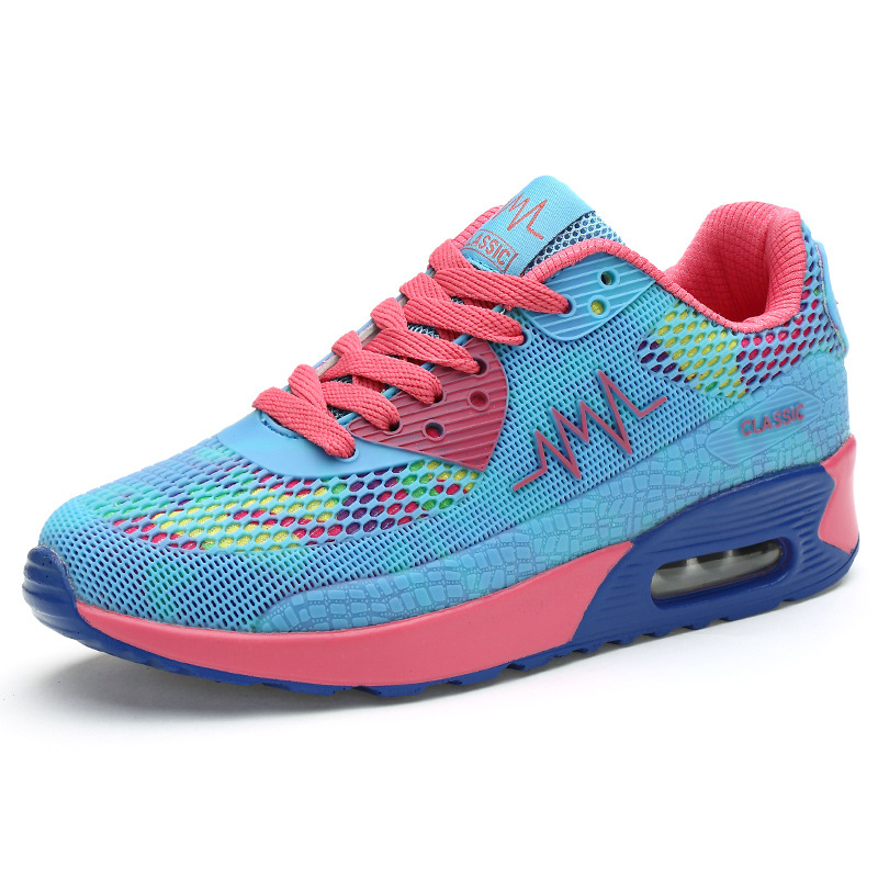 a4af337bc89c Woman Breathable Running Sports Shoes 2017 Height Increasing Air Cushion  Sneakers