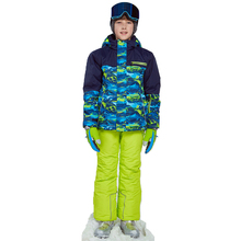 Winter Ski Suit Waterproof Boy Outdoor Sports Snowboard Jacket Thicken Children Skiing Set Hooded Warm Windproof Terno