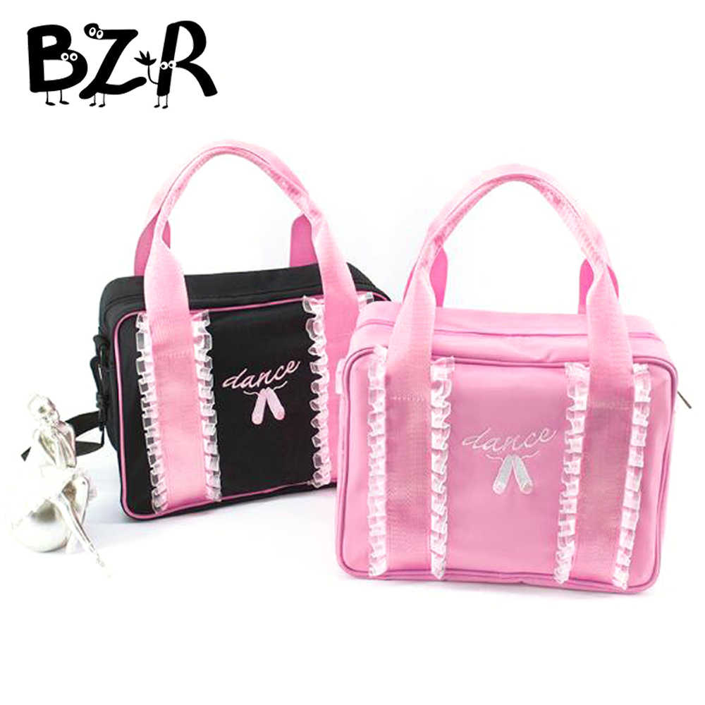 Embroidery Dance Shoes Lace Ballet Dance Bags Kids Message Shoulder Bag Child/Women Dance Bag Ballet Girls Handbag For Dancing