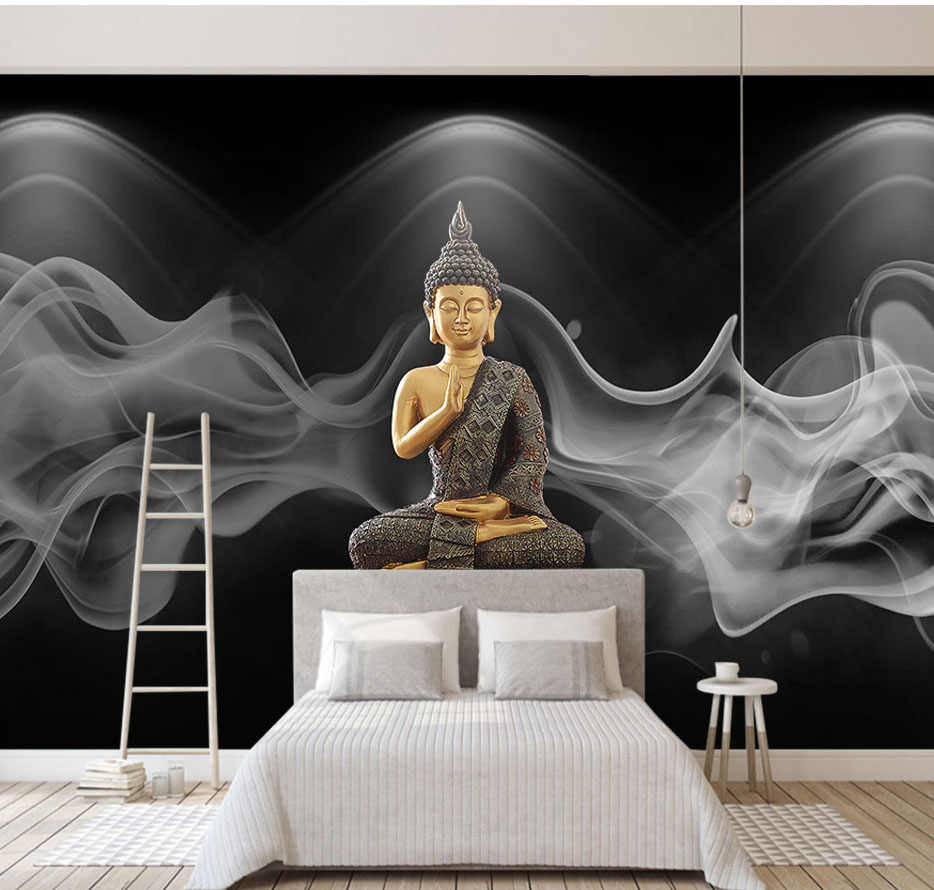 detail feedback questions about 8d large religion murals buddhism8d religion buddha statue photo wall sticker for lliving room tv background wallpaper 3d bedroom corridor
