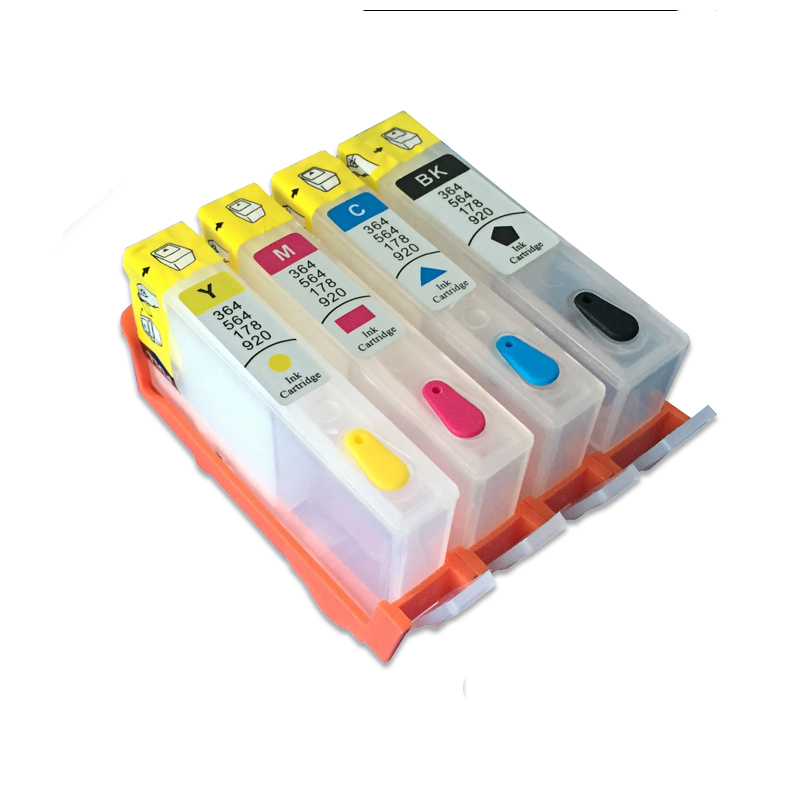 For hp670 4 colors Refillable Ink Cartridge for HP 670 670XL For HP Deskjet 3525 5525 4615 4625 printer With Chips image