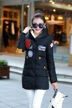 2016 зима женщины парки новый перо мягкий хлопок прилив женский дамы куртка женщина долго поколение жира пальто 7373