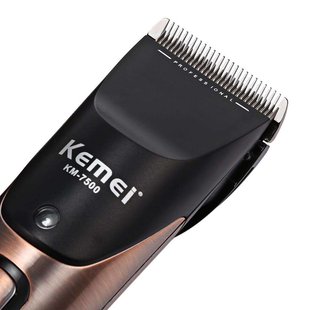 Kemei-7500 professionnel tondeuse à cheveux tondeuse Rechargeable tondeuse à barbe 10 vitesses pour hommes électrique coupe cheveux outil de coupe - 3