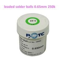 1 Bottles PMTC 250K 0.65mm BGA Leaded solder Ball bga rework reballing soldering ball For PCB Chips Motherboard Repair