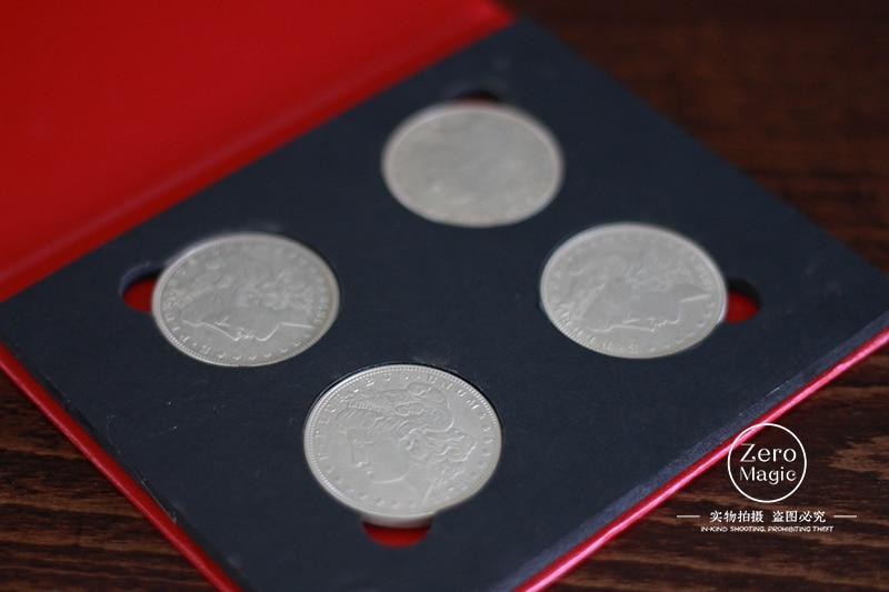 M 16 (Morgan) de Aleksandr Gold, bombardero de monedas (versión de monedas de Morgan), gire a 16, moneda, truco, ilusión, primer plano, utilería, trucos de magia-in Trucos de magia from Juguetes y pasatiempos    3