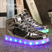 Good Quality Fashion Light Up Sneakers Children LED Shoes For Kids Boys Girl Glowing Sneakers With