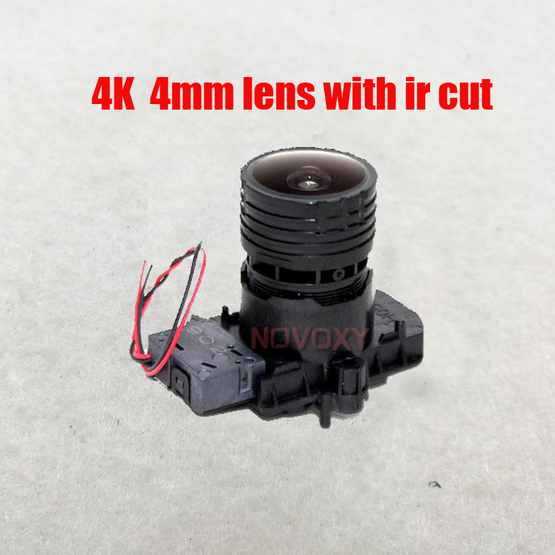 Free shipping 4mm 4K Lens 8MP Megapixel Fixed M12 Small Lens with ir cut  For 4K IP CCTV camera