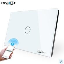 цена Cnskou Manufacturer Wifi Touch Switch, LED Light Wall Smart Home US Remote Control Switch,1 Gang 1 Way Luxury Glass Panel в интернет-магазинах