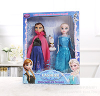 3 pcs 30 cm Caixa de Presente Boneca Elsa Anna Disney No Gelo e Neve princesa Boneca Congelado Princesa Menina de Brinquedo de Presente para o Natal Presente de Aniversário