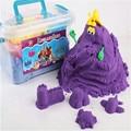 2 kg/caja Seguro no tóxico antiadherente magia espacio de arena para cultivar la imaginación de los niños y la capacidad de trabajo en equipo