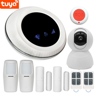 2019 New Tuya Smart Wifi+GSM Wireless Smart Home Security Alarm System Compatible with Alexa