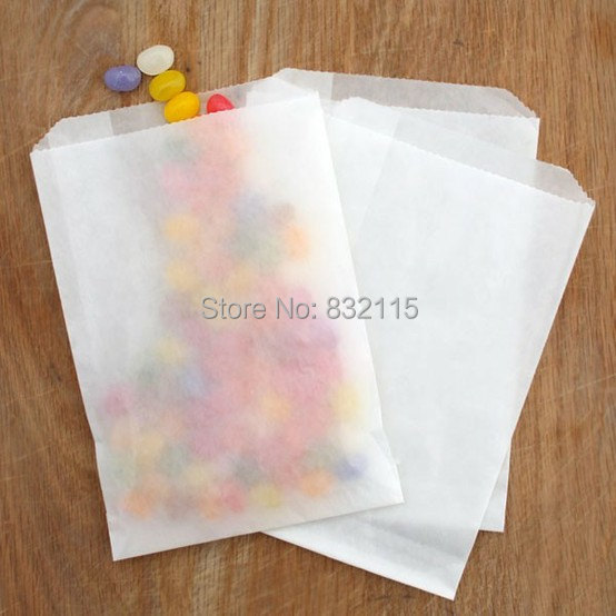 Favor-Bags Each-Package Glassine Small White 60 4x6inch 12pcs