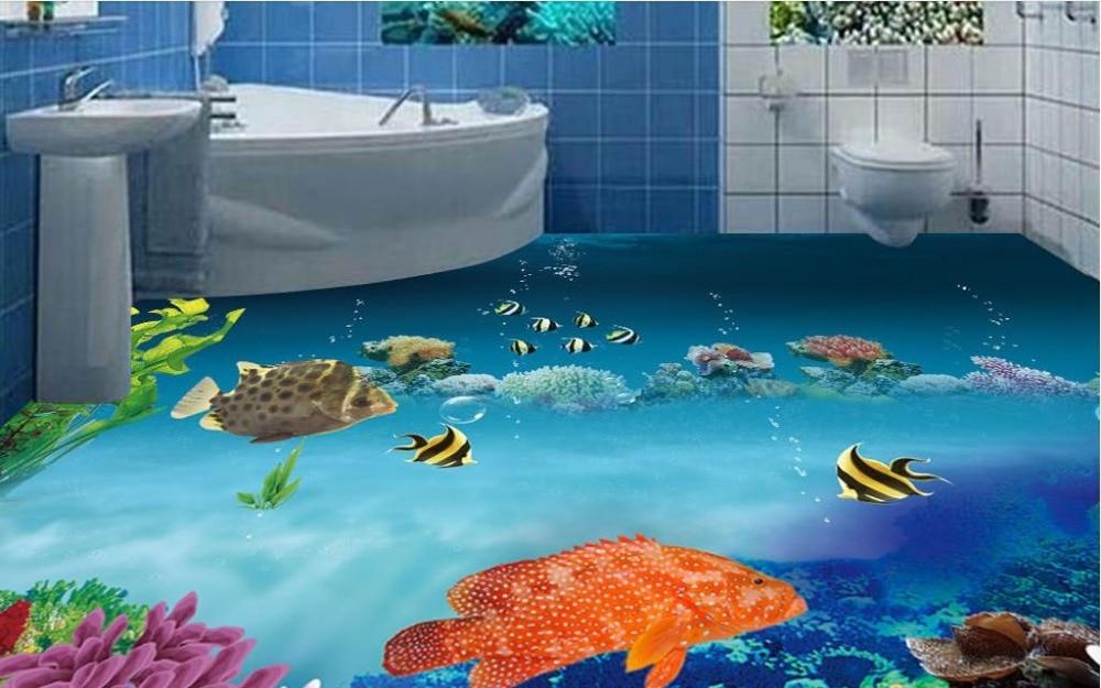 3d Floor Wallpaper Online Online Get Cheap Ocean Wall Murals Aliexpress Com
