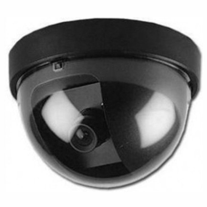 Plastic Smart Indoor/Outdoor Dummy Surveillance Camera Home Dome Fake Security Camera With Flashing Red LED Lights JFlyer